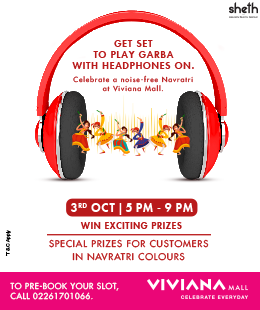 Noise Free Garba at Viviana Mall