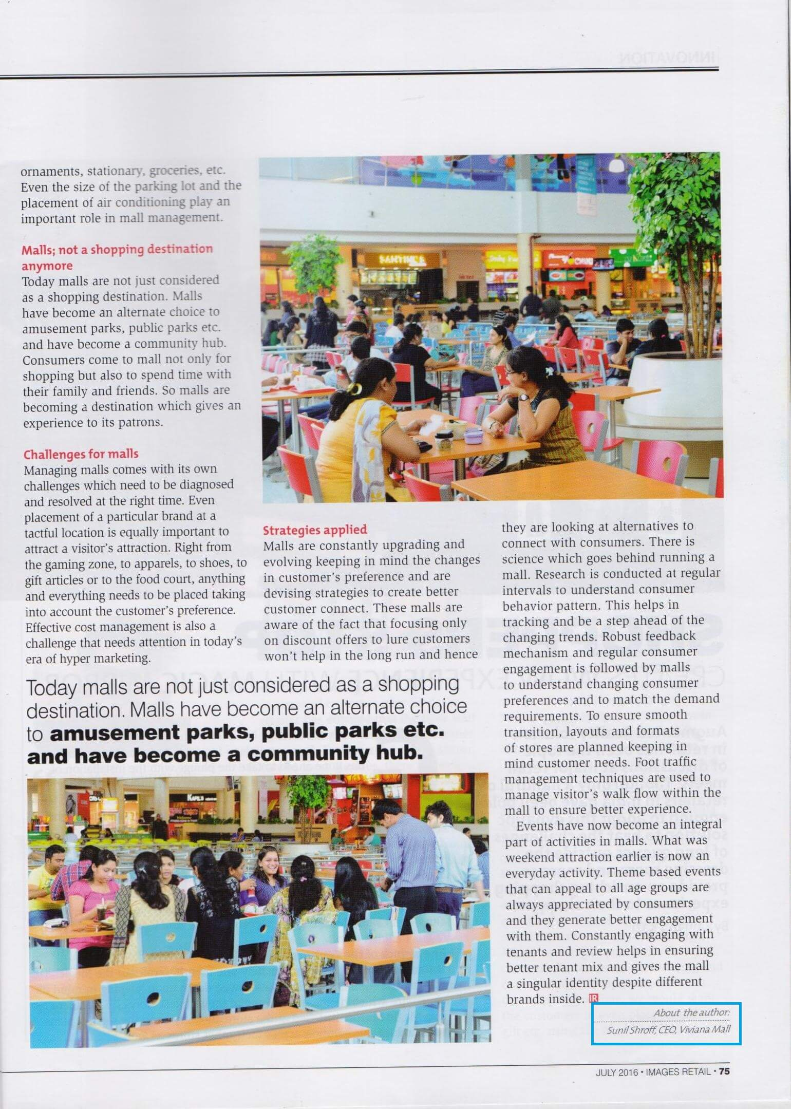 More than shopping destination featured in Newspaper - Viviana Mall
